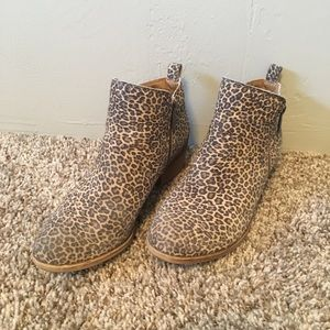 Lucky Brand Leopard Ankle Booties